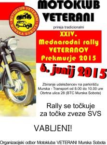 """24. mednarodni rally Veteranov """"Prekmurje 2015"""""""